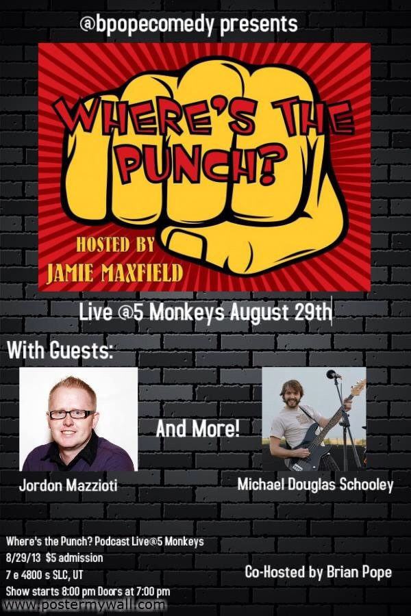 Where's The Punch? Podcast Live @5 Monkeys!