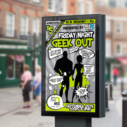 Friday Night Geek Out Poster