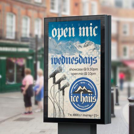 Ice Haus Open Mic Poster