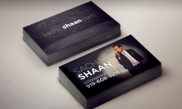 Sachin Shaan Business Cards